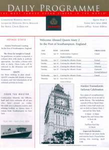 QM Daily Programme