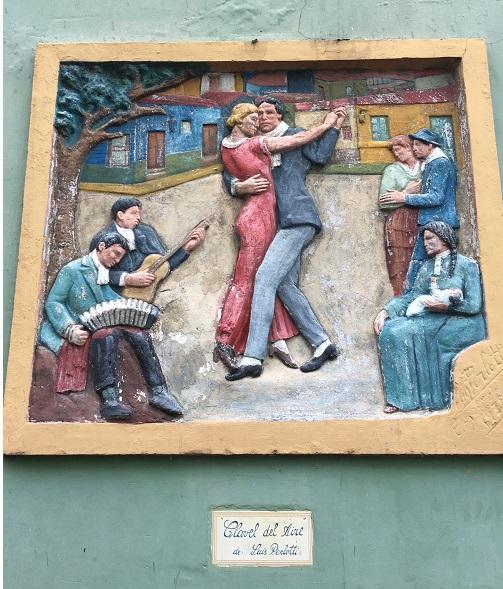 La Boca Tango Frieze