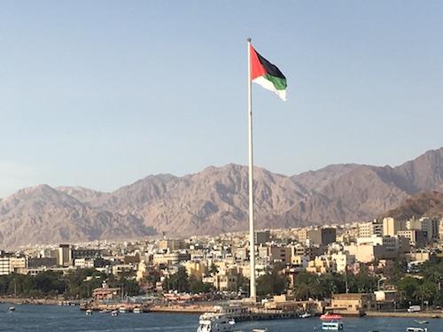 Aqaba - Departure - Arab Revolt Flag