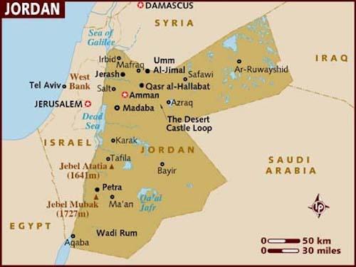 Aqaba Jordan Map