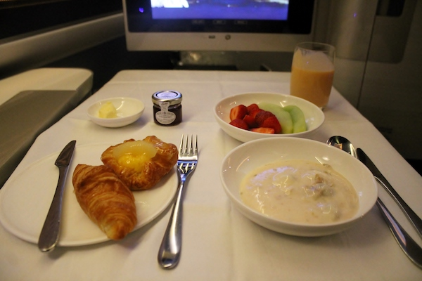 British Airways Breakfast